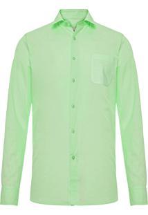 Camisa Masculina Linho - Verde Claro