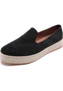 Slipper Dafiti Shoes Pesponto Preto