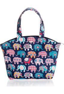 Necessaire Elefantes - Azul Scuba/Tu