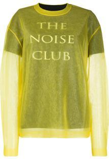 Mcq Alexander Mcqueen Suéter The Noise Club - Amarelo