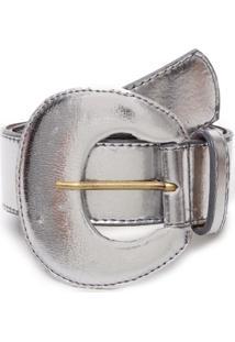 Cinto Birô Metalizado Prata