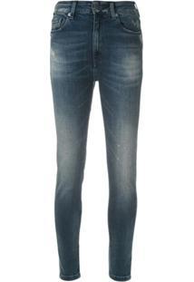 John John Calça Jeans Skinny Com Puídos - Azul