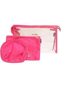 Kit 3 Necessaires Ruby'S Ancora Feminina - Feminino-Pink