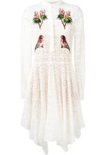 Stella Mccartney Vestido Com Renda E Bordado - Branco
