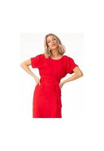 Blusa Lalibela De Tecido Alamata Vermelha