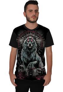 Camiseta Ramavi Lion King Curta Preto