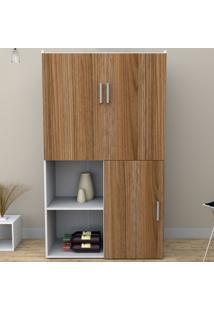 Armário De Cozinha 3 Portas Branco/Castanho Arm4003 - Appunto