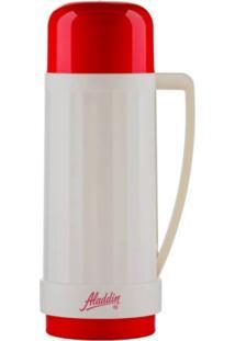 Garrafa De Café Térmica Aladdin Branca De Rosca 1 Litro