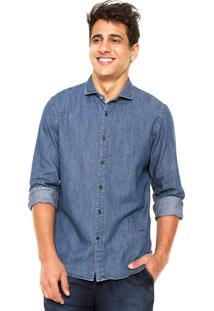 Camisa Jeans Richards Slim Azul