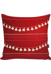 Capa Para Almofada New Christmas- Vermelha & Bege- 4Stm Home