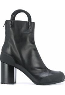 Random Identities Ankle Boot Com Fechamento Por Zíper - Preto