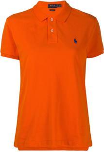 Polo Ralph Lauren Camisa Polo Com Logo Bordado Laranja