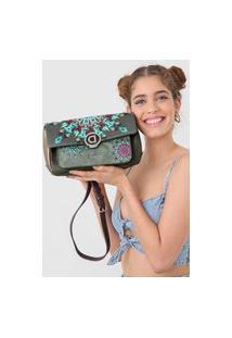 Bolsa Desigual Across Body Bag Luna R Verde