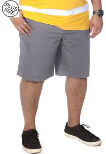 Bermuda Plus Size Bigshirts - Cinza