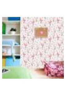 Papel De Parede Adesivo - Flamingos - Chevron - Infantil - 351Ppi