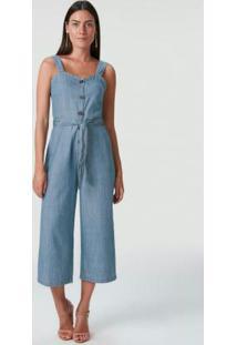 Macacão Azul Escuro Pantacourt Light Jeans