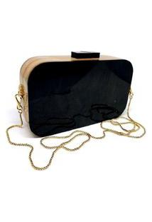 Bolsa Clutch Retangular Black