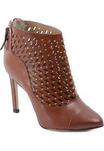 Ankle Boot Com Recortes A Laser E Mini Tachas - Dumond - Feminino