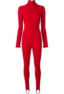 Atu Body Couture Macacão Slim - Vermelho