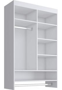 Closet Suspenso Sem Gaveta 84,5Cmx135Cmx35Cm Linha Kids Quiditá Branco