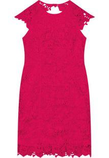 Vestido Floral Feminino Rosa