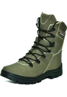 Bota Atron Shoes Motociclista Lona - Masculino-Verde Militar