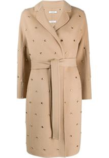 P.A.R.O.S.H. Embellished Trench Coat - Neutro