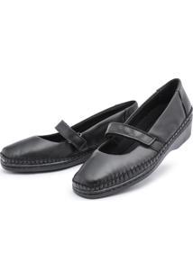 Sapato Sapatilha Top Franca Shoes Boneca Preto