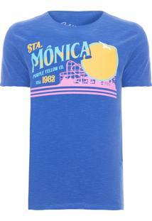 Camiseta Masculina Santa Mônica - Azul