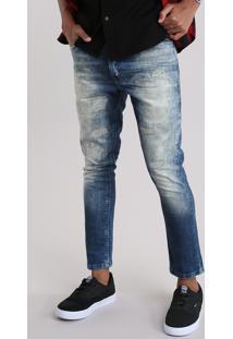 Calça Jeans Carrot Azul Escuro