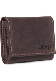 Carteira De Couro Jeep Marrom