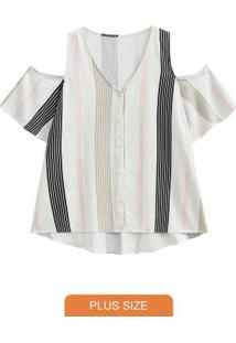 Camisa Tecido Com Recorte Preto Reativo