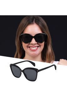 Óculos De Sol Gatinho Preto Feminino Isabela Dias