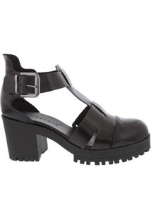 Sandália Ankle Boot Bebecê Preta