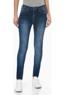 Calça Jeans Feminina Five Pockets Super Skinny Bolso Ômega Azul Médio Calvin Klein Jeans - 34
