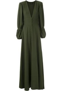 Olympiah Vestido Longo 'Império' - Verde