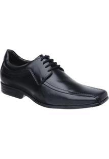 Sapato Social Malbork Couro Legítimo Fechamento Cadarço 162 - Masculino-Preto