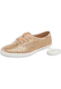 Tênis Keds Champion Renda Leather Tan Bege