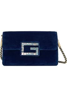 Gucci Bolsa Tiracolo 'Square G' - Azul