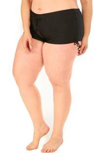 Calcinha Shorts Plus Size Acqua Rosa Preto