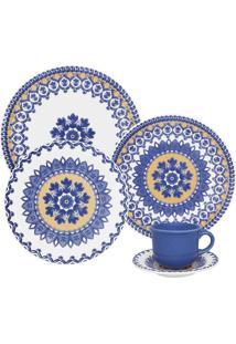 Aparelho Jantar Chá E Sobremesa 30 Peças Floreal La Carreta Oxford