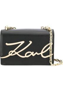 Karl Lagerfeld Bolsa Tiracolo K/Signature - Preto
