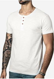 Camisa Hermoso Compadre Henley Masculina - Masculino-Branco