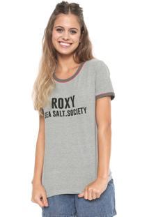 Camiseta Roxy Sea Salt Society Cinza