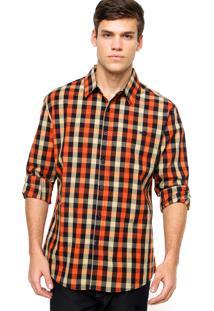 Camisa Sommer Fred Xadrez Laranja