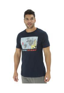 Camiseta Ecko Pica-Pau E619A - Masculina - Azul Escuro