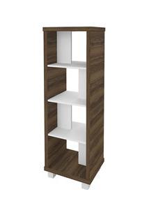 Estante Livreiro Multiuso Decorativa Flex Nogal/Branco - Artany
