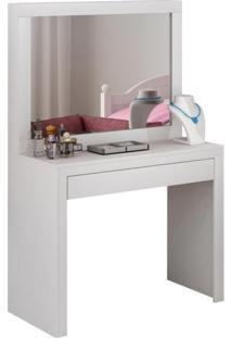 Penteadeira Lorenzo Com Espelho 1 Gv Branco