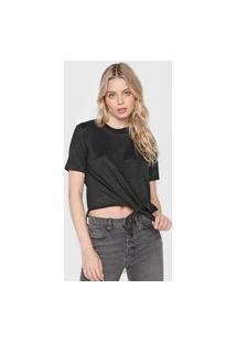 Blusa Calvin Klein Jeans Suede Preta
