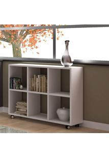 Estante Para Livros 6 Nichos Be09 Cube Moderno Brv Móveis Branco